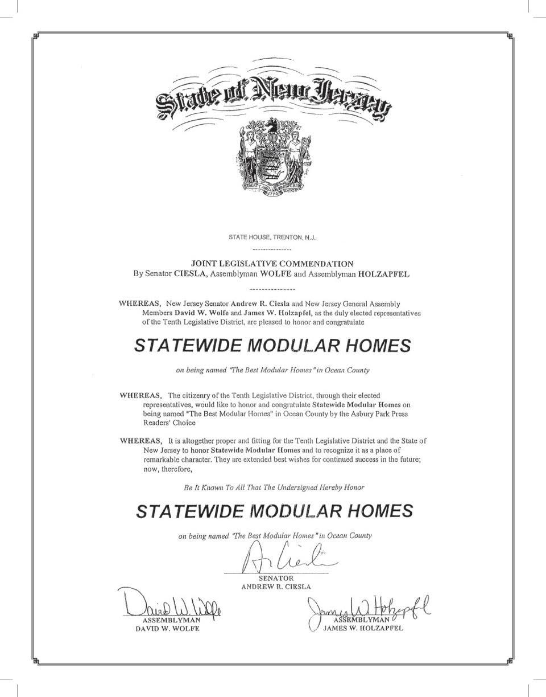 state nj certificate